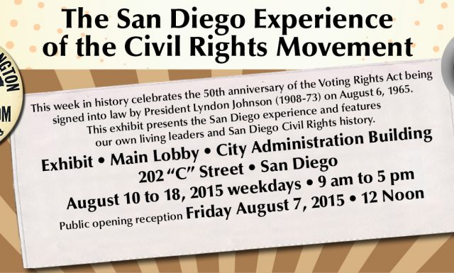 The San Diego Experience of the Civil Rights Movement